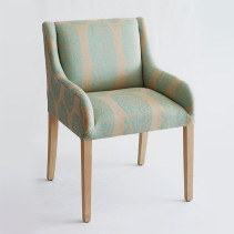 Jaipur Paisley Aqua on dark linen Chair