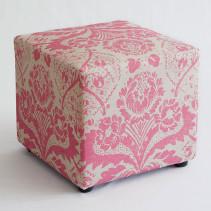 Paisley Pink Ottoman